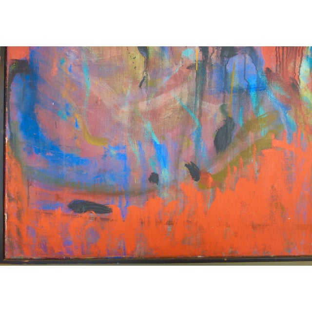 Mid-Century Abstract Oil Painting For Sale In Miami - Image 6 of 7