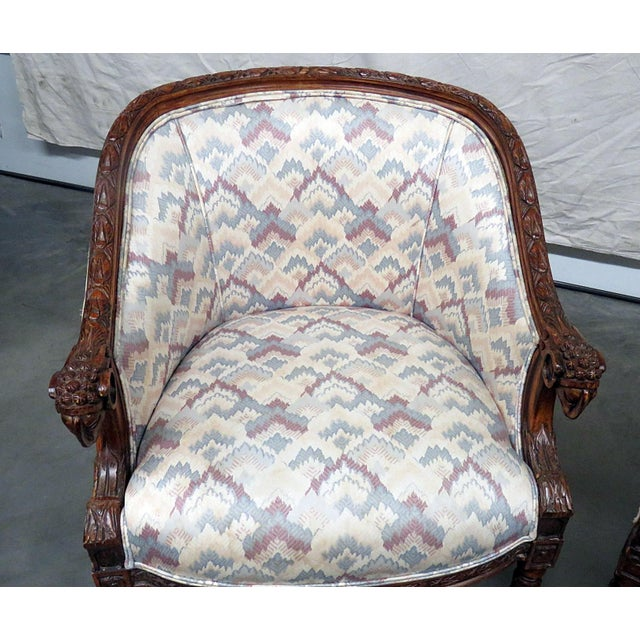 Mid 20th Century Regency Style Club Chairs - a Pair For Sale - Image 5 of 13