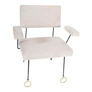 1950s French Modern Armchair For Sale