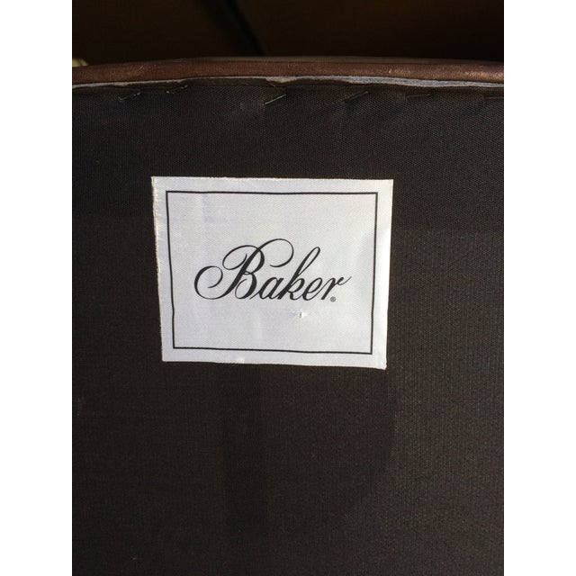 2 Baker Furniture Tuileries Leather Chairs - Image 7 of 9