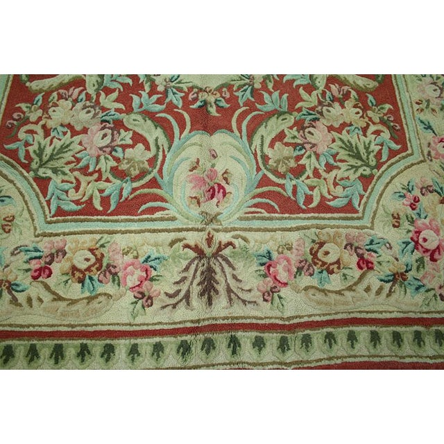 "Vintage Decorative Hooked Rug - 8'10"" x 12'2"" - Image 6 of 6"