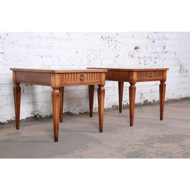 1960s Baker Furniture Milling Road French Regency End Tables, Pair For Sale - Image 5 of 12