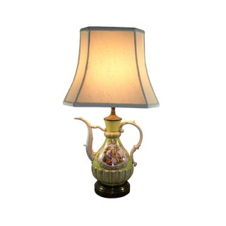 18th Century Meissen Porcelain Pitcher Mounted as Lamp For Sale