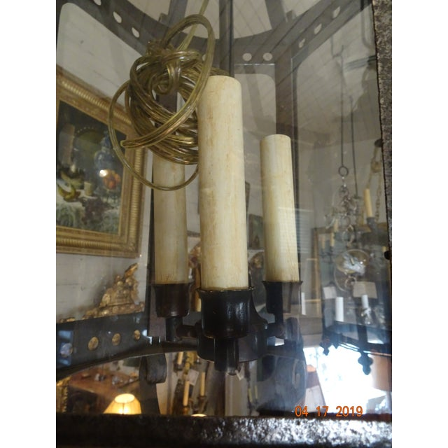 Metal French Vintage Iron Lantern For Sale - Image 7 of 12