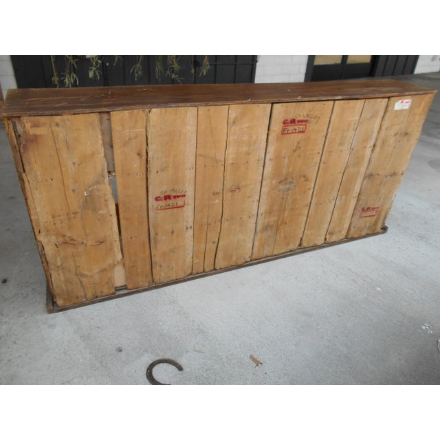 12 Drawer Pine Apothecary Cabinet For Sale - Image 5 of 11