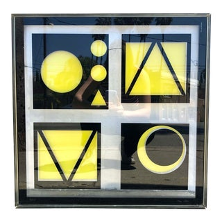 1970s Op Art Reverse Glass Painting by Mac Peters For Sale
