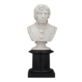 Coalport Parian Porcelain Bust of Lord Nelson
