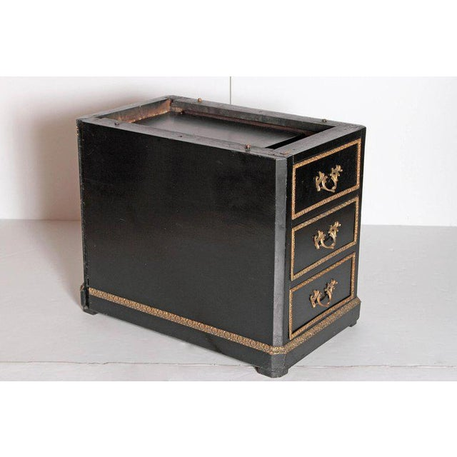 19th Century Regence Style Pedestal Desk With Black Leather Top For Sale - Image 9 of 13