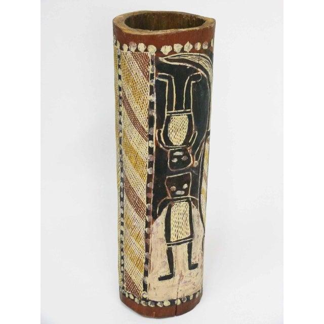 Primitive Arnhem Land Painted Aboriginal Hollow Log For Sale - Image 3 of 5
