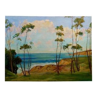 1940s Impressionist James Arthur Merriam California Coastline Oil Painting For Sale