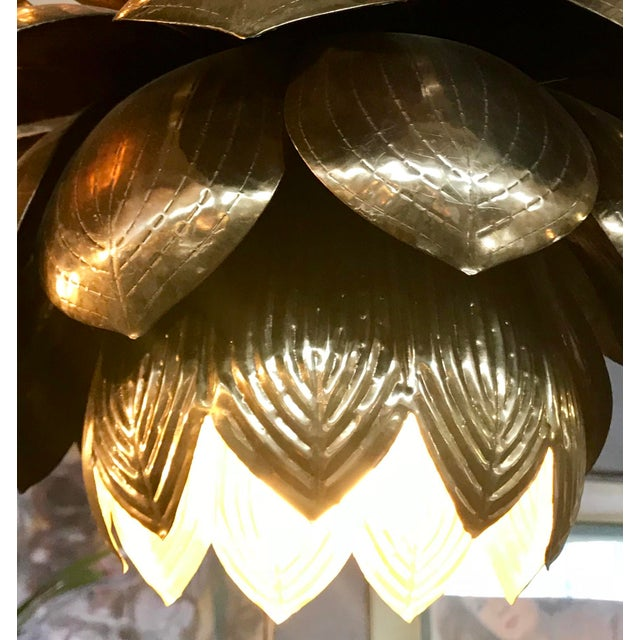 1960s Lotus Lamp For Sale - Image 5 of 6