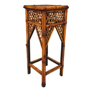 Vintage Bamboo Plant Stand / Table For Sale