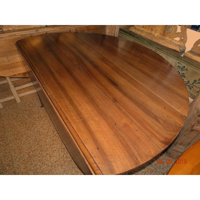 Walnut Epoch Directoire Dining Table For Sale - Image 4 of 12