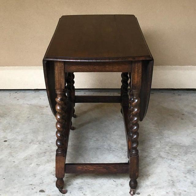 Antique Barley Twist Gateleg Drop Leaf Table For Sale - Image 11 of 13