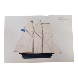 Vintage Sailboat Print