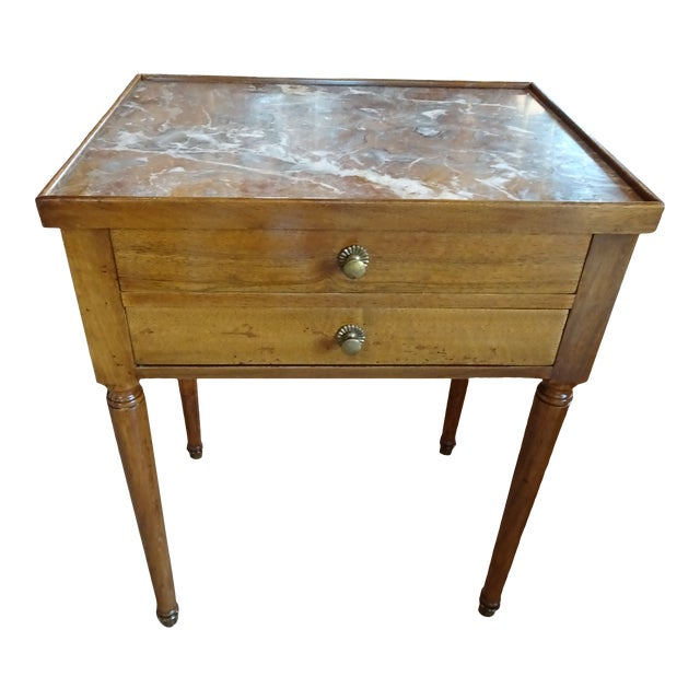 French Marble Side Table For Sale