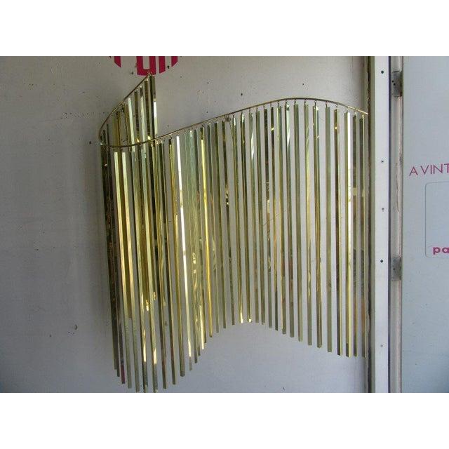 Modern Brass Wall Sculpture - Image 3 of 6