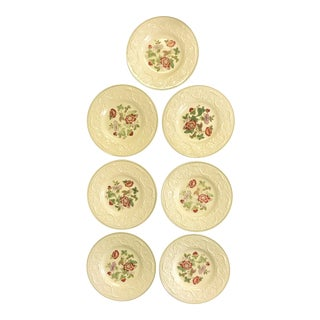 """Vintage Wedgwood Patrician """"Tapestry"""" Collection Luncheon Plates - Set of 7 For Sale"""