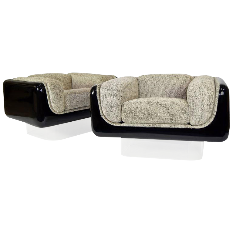 William Andrus For Steelcase Lounge Chairs   A Pair For Sale