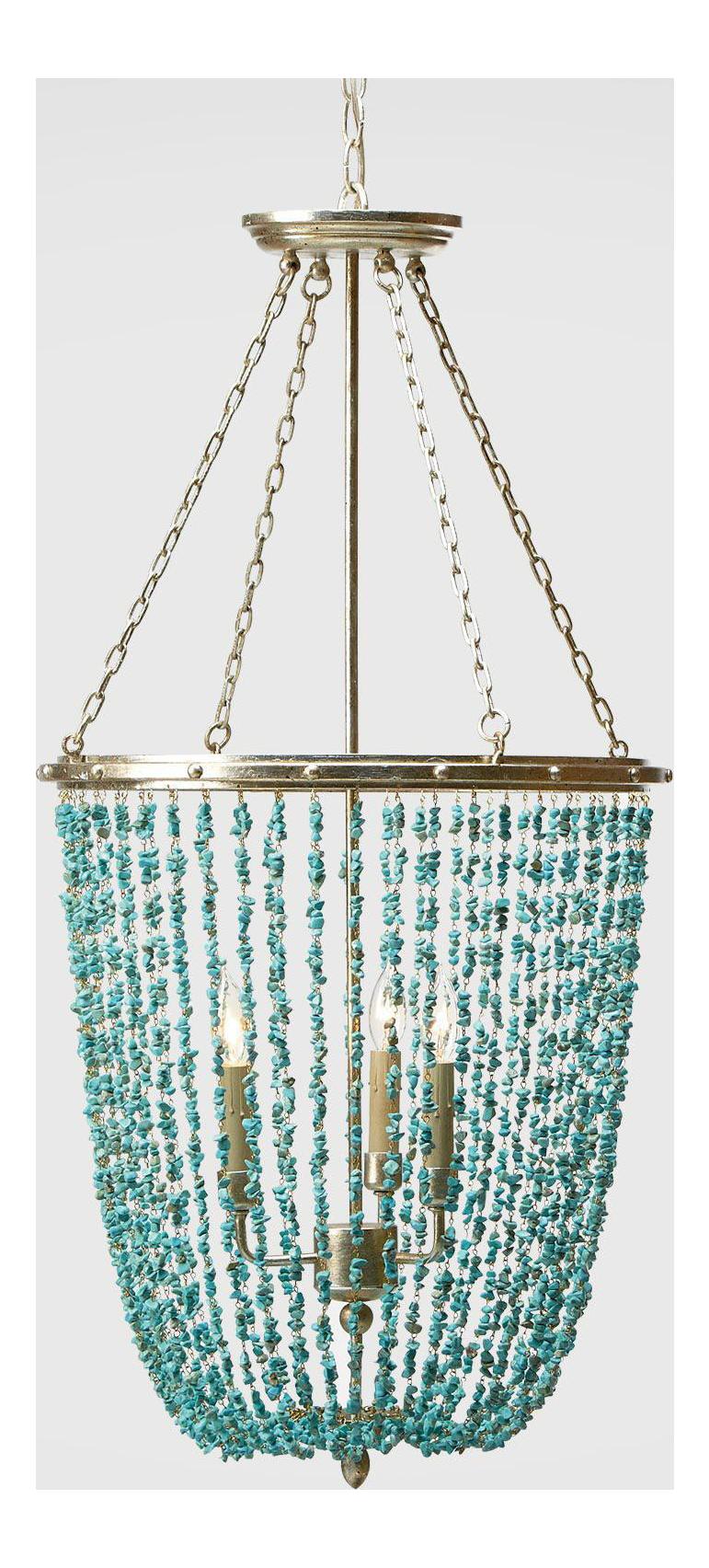 turquoise chandelier lighting. Ethan Allen Turquoise Beaded \ Chandelier Lighting I