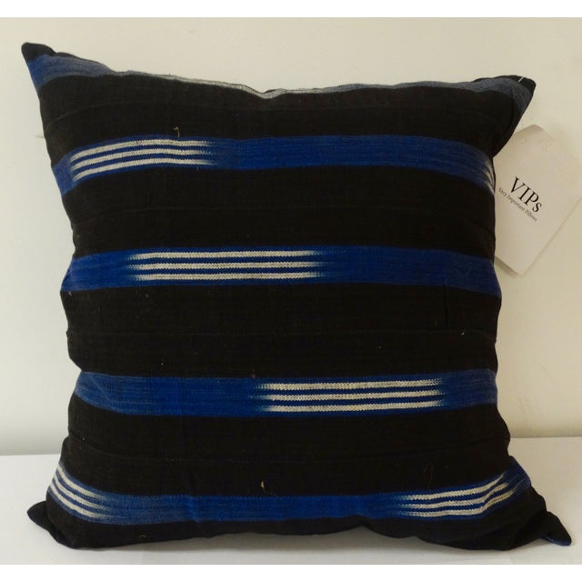 African Textile Pillows - Pair - Image 3 of 3