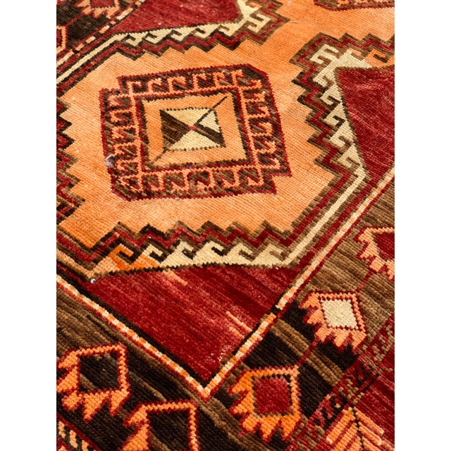 "1950's Vintage Turkish Anatolian Runner Rug - 3'2""x11'2"" For Sale - Image 12 of 13"