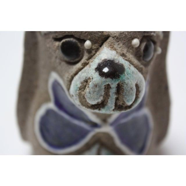 Charming Swedish Modern Ceramic Dog Figurine by Thomas Hellström for Nittsjö Keramik For Sale - Image 11 of 13