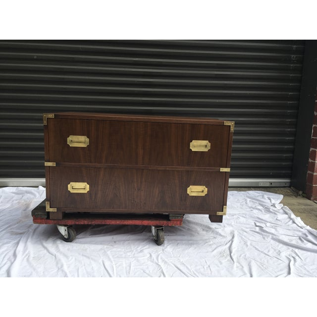 Baker Furniture Low Campaign Chest For Sale - Image 12 of 12