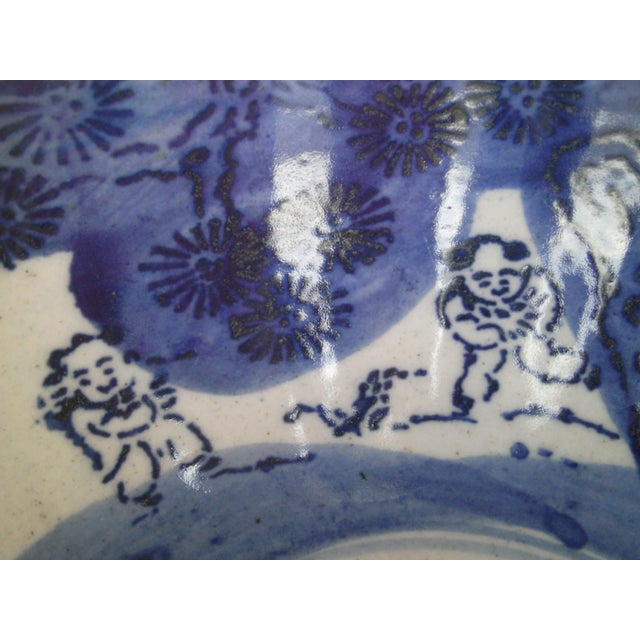 19th Century Blue & White Oriental Bowl - Image 7 of 9