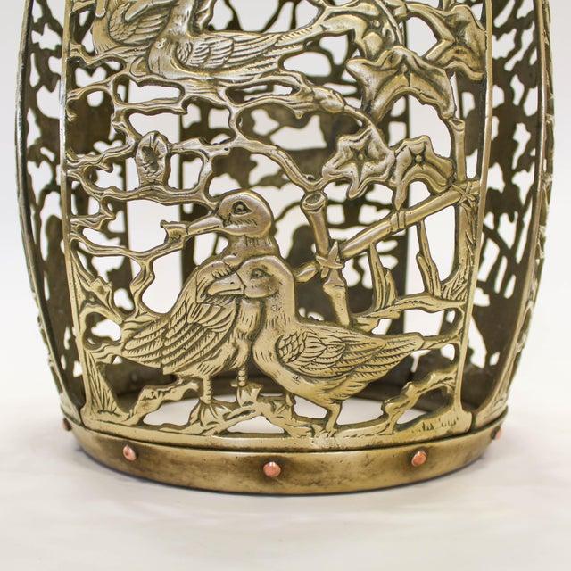 Asian Brass Chinosiere Garden Stool - Image 6 of 9