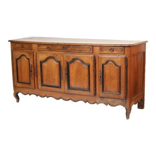 19th Century Louis XV Provincial Walnut Enfilade For Sale