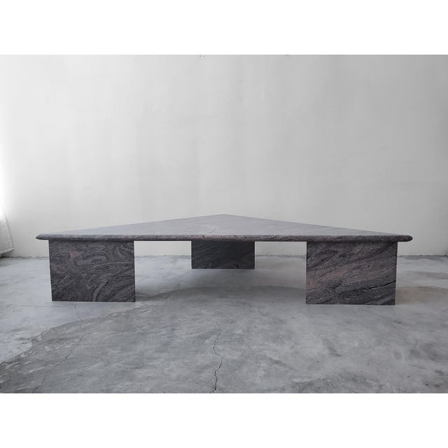 Post Modern Trianglular Coffee Table For Sale - Image 9 of 9