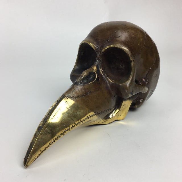 Abstract Modernist Bronze Skull Sculpture 1974 Stein For Sale - Image 3 of 9