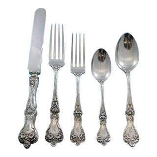 Majestic by Alvin Sterling Silver Flatware Set Dinner Service 38 Pcs B Monogram For Sale