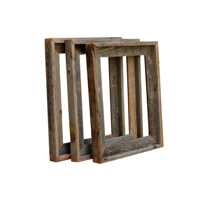 Rustic Reclaimed Wood Frames Set Of 3 Chairish