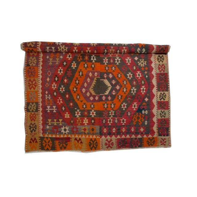Turkish Corum Kilim Rug For Sale