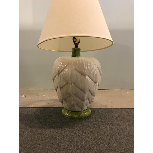 1960's Ceramic Artichoke Lamp - Image 6 of 11