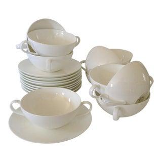 Villeroy & Boch 'Royal' Soup Bowls & Saucers - Set of 10