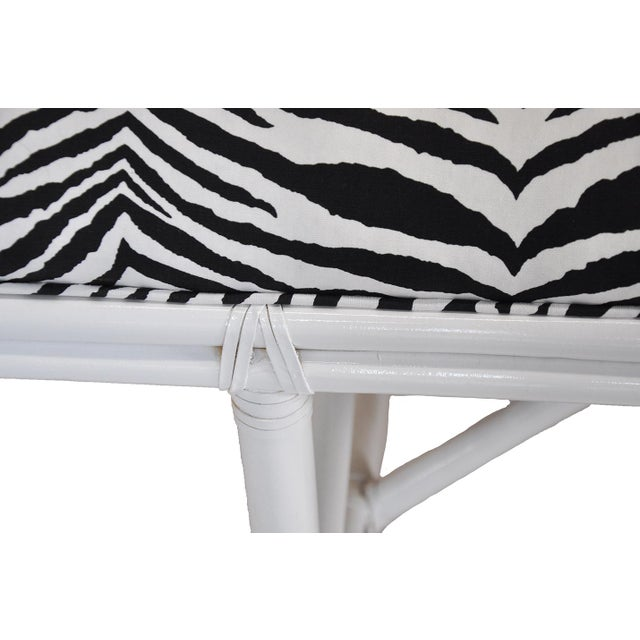 Ficks Reed Zebra Bench - Image 3 of 4