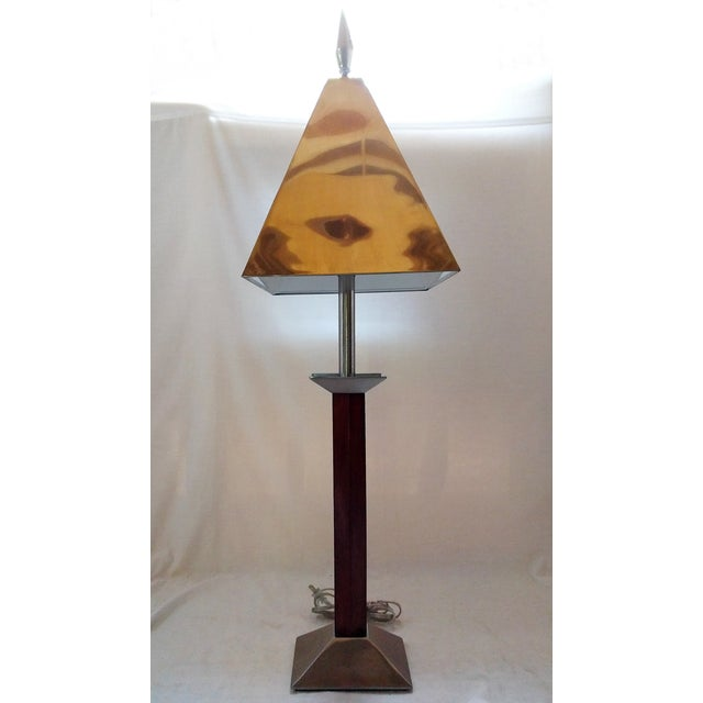 Wood & Metal Lamp with Spear Finial - Image 2 of 3