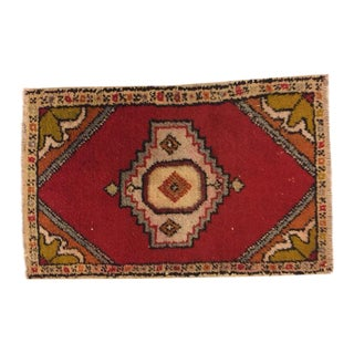 Turkish Hand Knotted Decorative Rug - 1′10″ × 2′9″