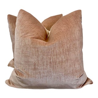 "Blush Velvet 22"" Pillows -A Pair"