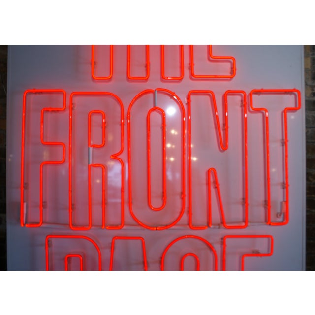"Contemporary Neon Sign ""The Front Page"" For Sale - Image 3 of 6"