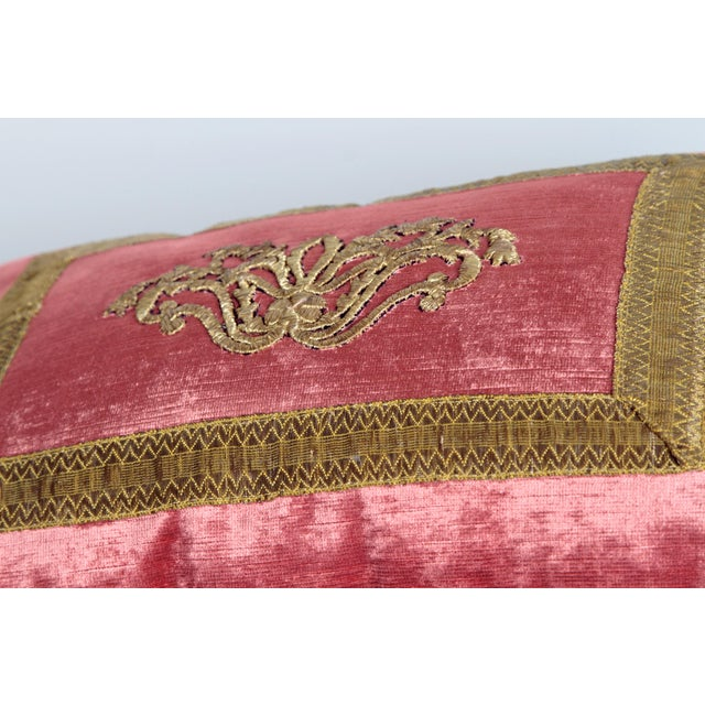 Antique Embroidery Pillow by Rebecca Vizard For Sale In Dallas - Image 6 of 8