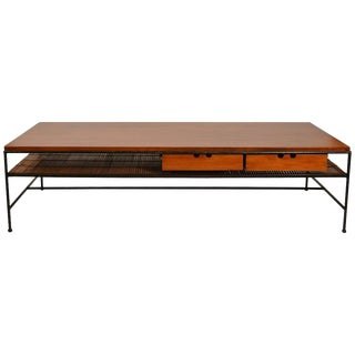 Paul McCobb Maple and Iron Coffee Table For Sale