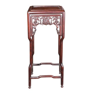Late 19th Century Vintage Chinese Rosewood Carved Small Table For Sale