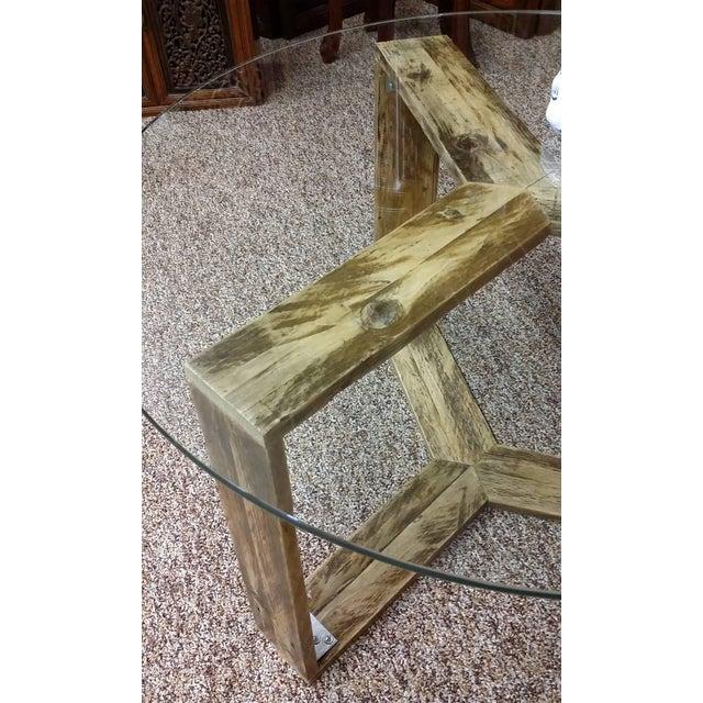 Custom Pallet Wood Side Table - Image 4 of 9