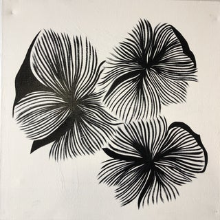 """Black Budding Flowers"" Painting by Katherine Leonard For Sale"