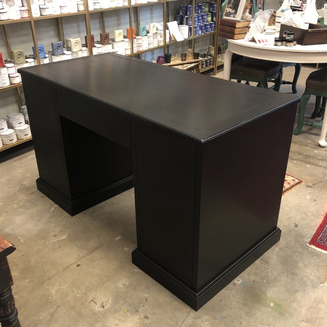 1950s Campaign Style Desk For Sale - Image 4 of 10