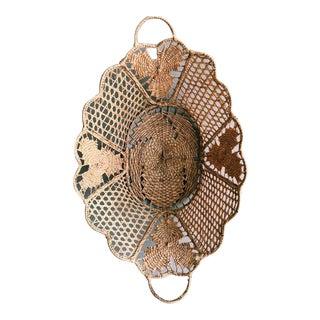 Antique Rattan Basket For Sale